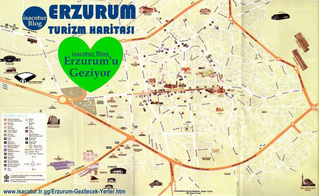 Erzurum Turizm Haritası