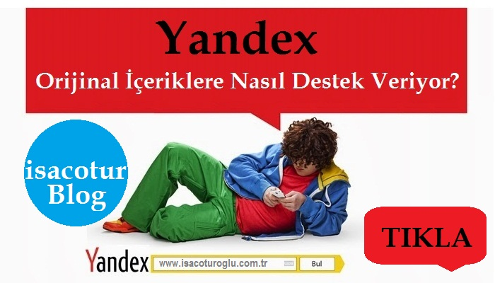 Yandex Özgün İçeriklere Destek Veriyor