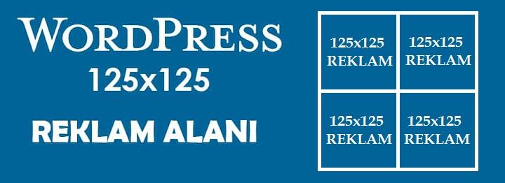 WordPress'e 125×125 Reklam Alanı Eklemek