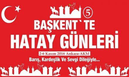 Baskentte Hatay Gunleri 2016