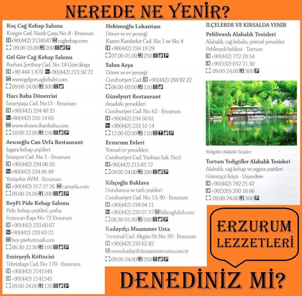 Erzurumda Ne Yenir