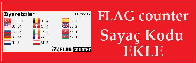 Sitene FlagCounter Sayaç Kodu Ekle