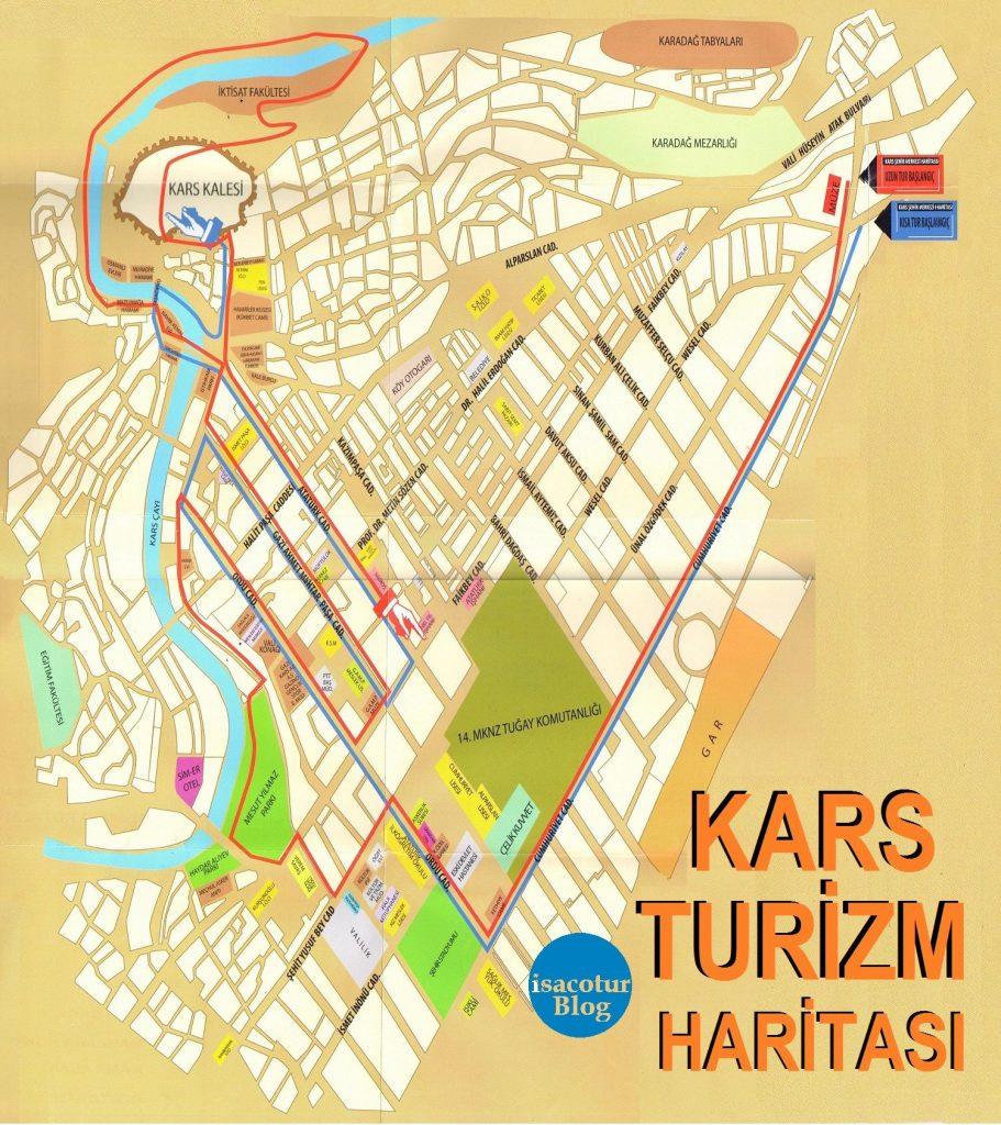 Kars Turizm Haritası Büyük Boy