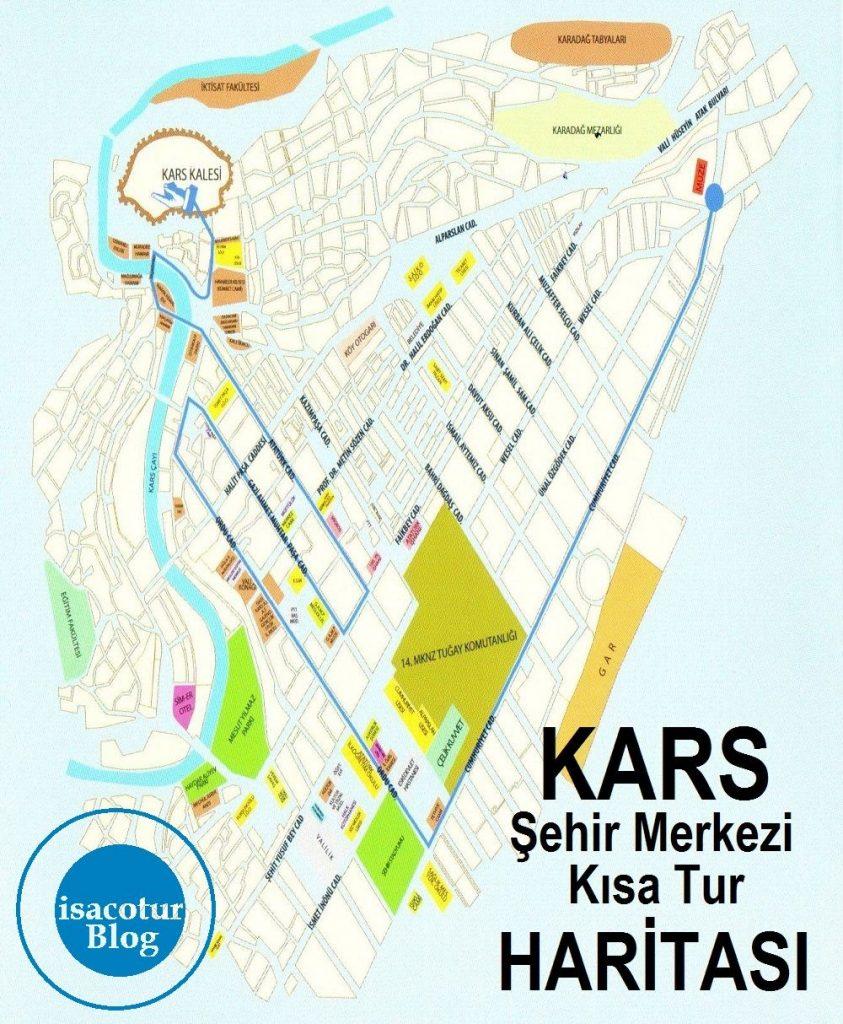 Kars Turizm Haritası Kısa Tur