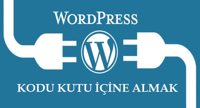 Wordpress Kodu Kutu İçine Almak
