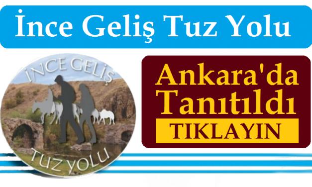 İnce Geliş Tuz Yolu Ankara'da Tanıtıldı