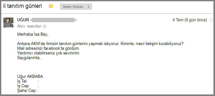 Ankara Akm Fuar tanıtımı mail