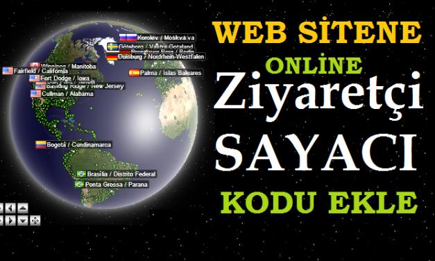 Sitene Ziyaretçi Sayacı ekle