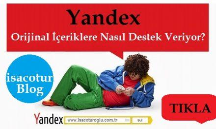 Yandex Özgun İçerik Desteği