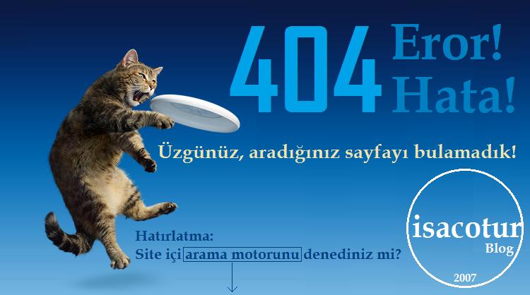 isacotur Blog 404 Hata Sayfası Görseli