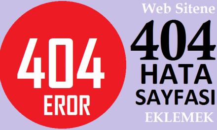 404 Hata Sayfası Tasarımları