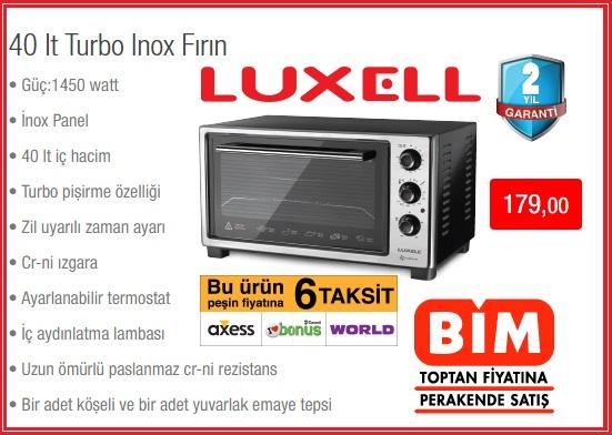 Luxell 40 lt Turbo Inox Fırın Özellikleri