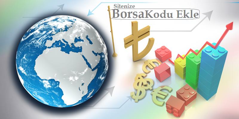 Sitene Borsa ve Döviz Kodları Ekleme