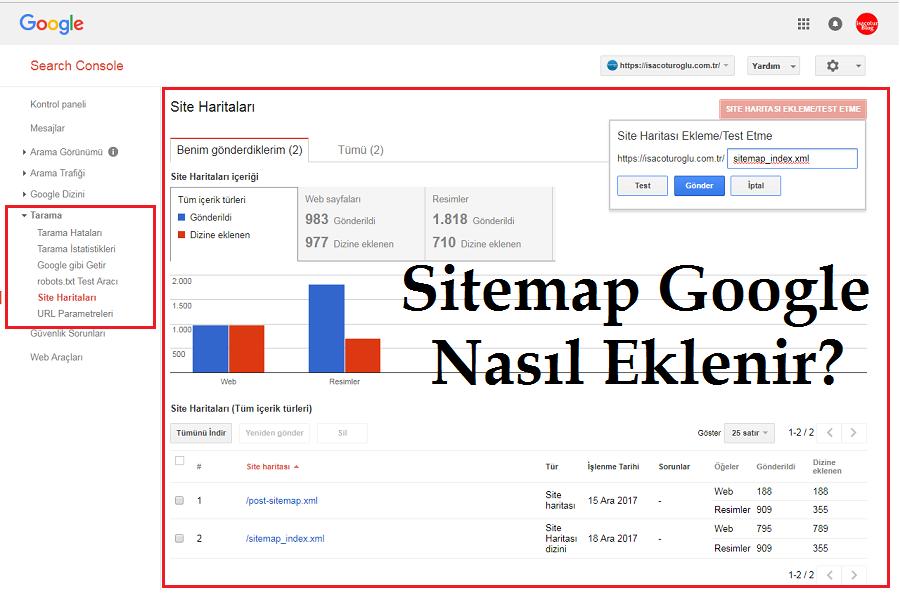 Sitemap Google Nasıl Eklenir