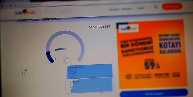 TürkNET İnternet Hız Testi
