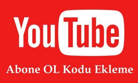 YouTube Abone OL Kodu