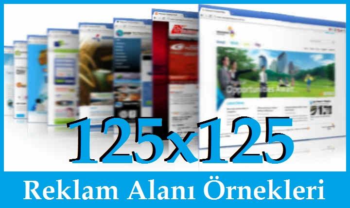 125x125 Reklam Alanı Örnekleri