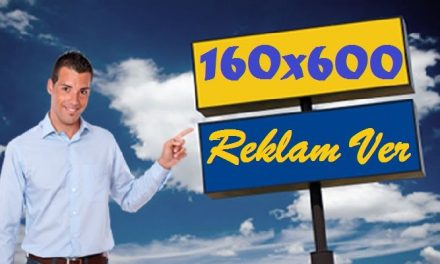 160×600 Baner Reklam Alanı kodu