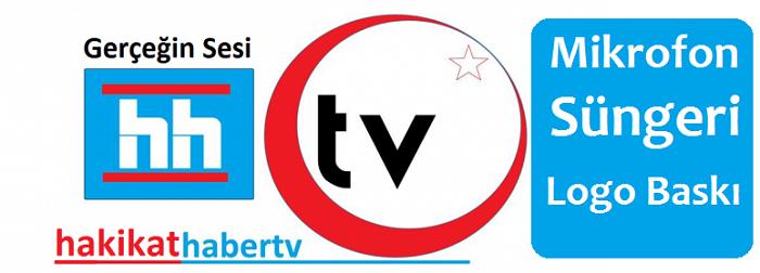 Hakikat TV Mikrofon Süngeri Logo Baskı