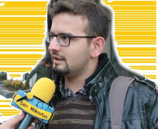 Sarı Mikrofon Süngeri Mic Flag