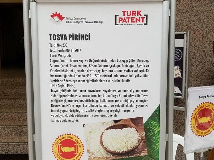 Tosya Sarıkılçık Pirincine Coğrafi İşaret