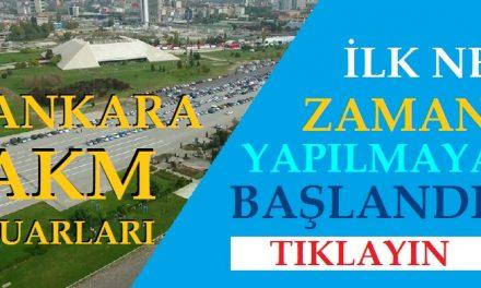 Ankara Akm'de İlk Fuar Ne Zaman Yapıldı