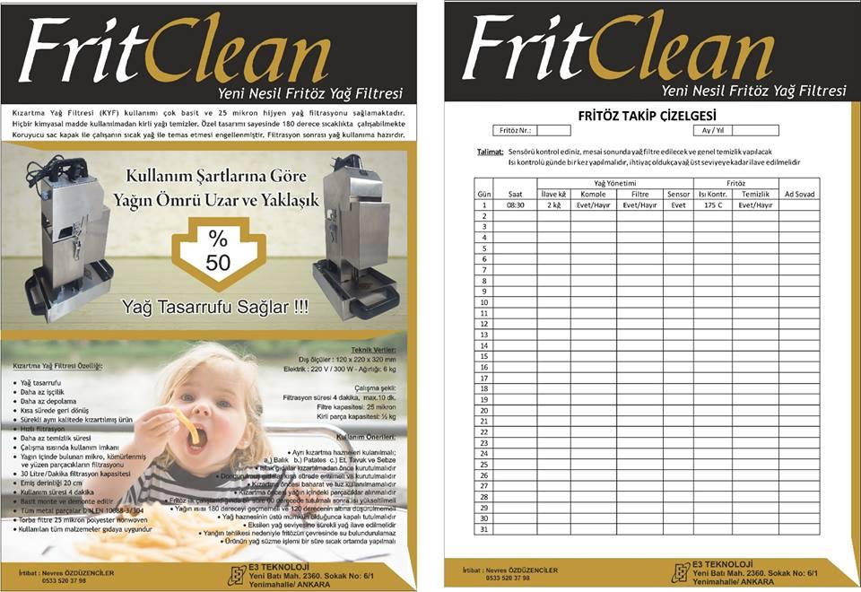 Frit Clean Yağ Filtresi