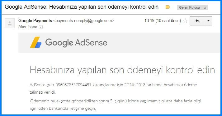 EFT ile Google Adsense'den Para Çekmek