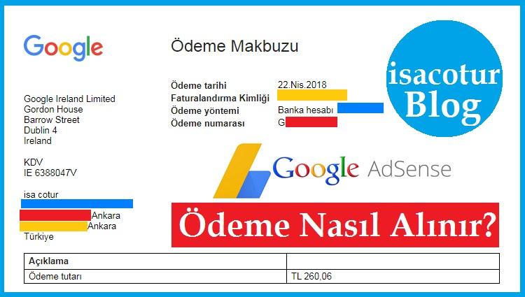Google Adsense Reklam Ödemesi Nasıl Alınır
