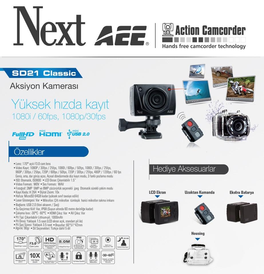 Next AEE SD21 Özellikleri
