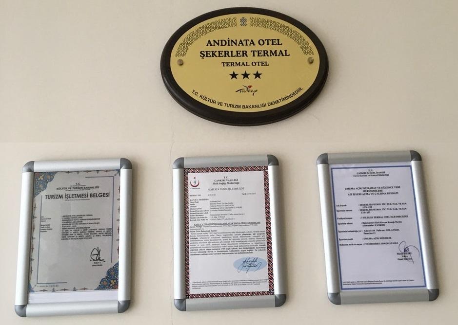 Andinata Otel Şekerler Termal Hakkında Gelen Bilgi