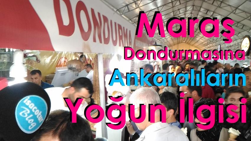 "Fuarda ""Maraş Dondurmasına"" Ankaralıların Yoğun İlgisi"