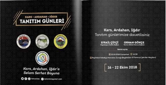 Kars-Ardahan-Iğdır Tanıtım Günleri 2018 İstanbul
