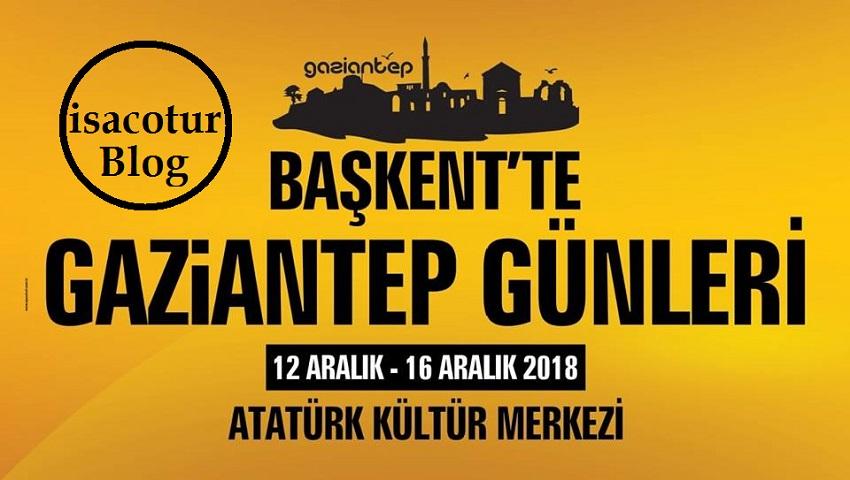 Gaziantep Tanıtım Günleri Ankara 2018