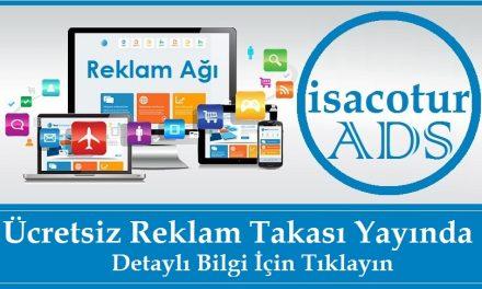 isacotur ADS Ücretsiz Reklam Takası Yayında