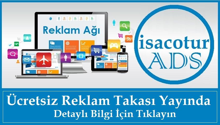 isacotur ADS Ücretsiz Banner Reklam Takas Ağı Yayında