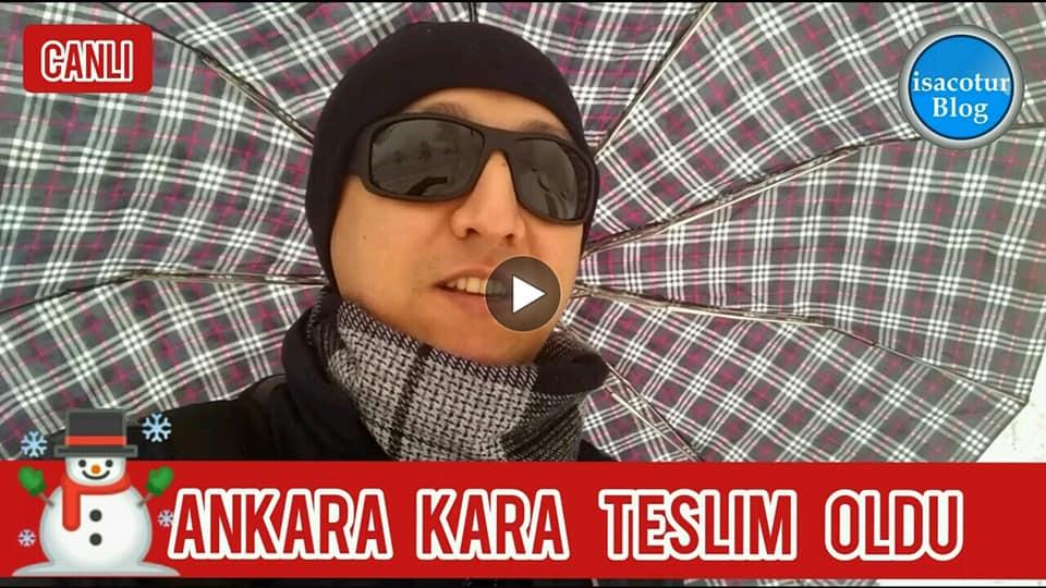 Lapa Lapa Kar Yağışı Ankara'da Büyük İlgi Uyandırdı
