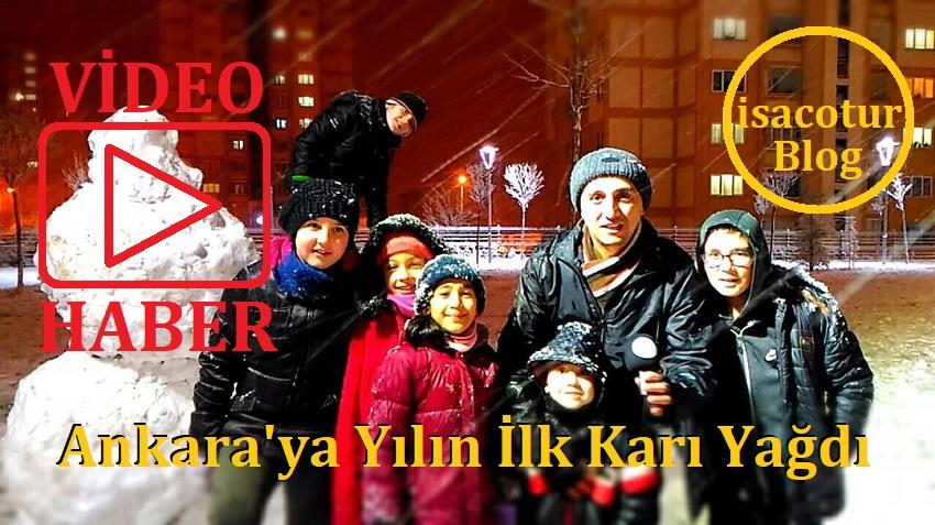 Ankara'ya Yılın İlk Karı Yağdı (Karacaören Toki Resimleri)