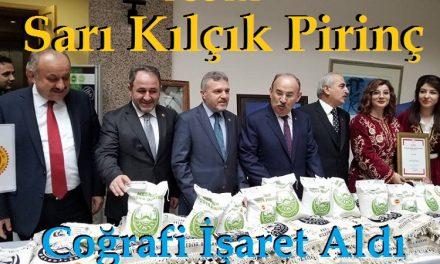 Tosya Sarıkılçık Pirincine Coğrafi İşaret Verildi