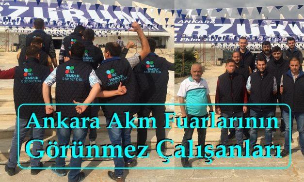 """Ankara Akm Fuarlarının Görünmez Çalışanları """"Su Temizlik"""""""