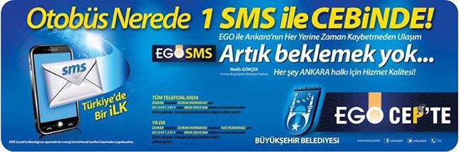 Ego SMS ile Otobüs Nerede?