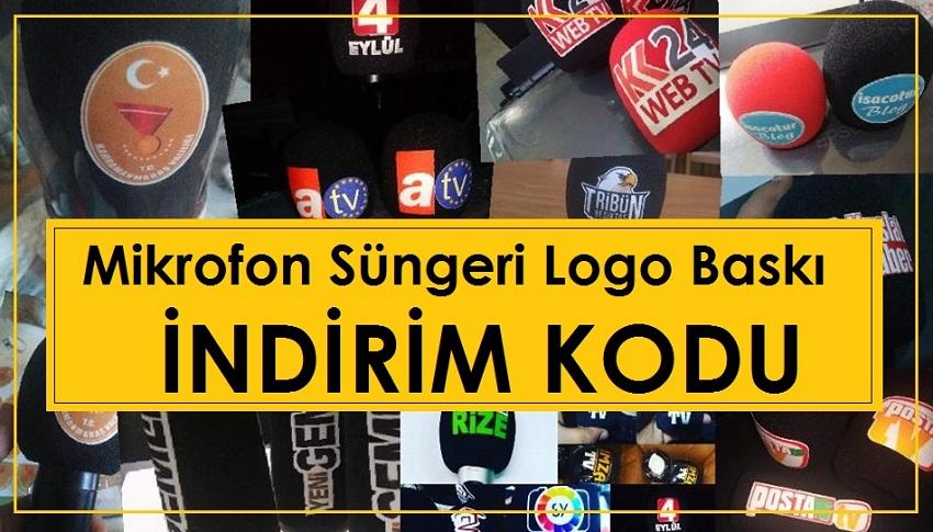 Mikrofon Süngeri Logo Baskı İndirim Kodu