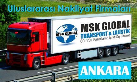 """Uluslararası Nakliyat Firmaları Ankara """"MSK Global"""""""