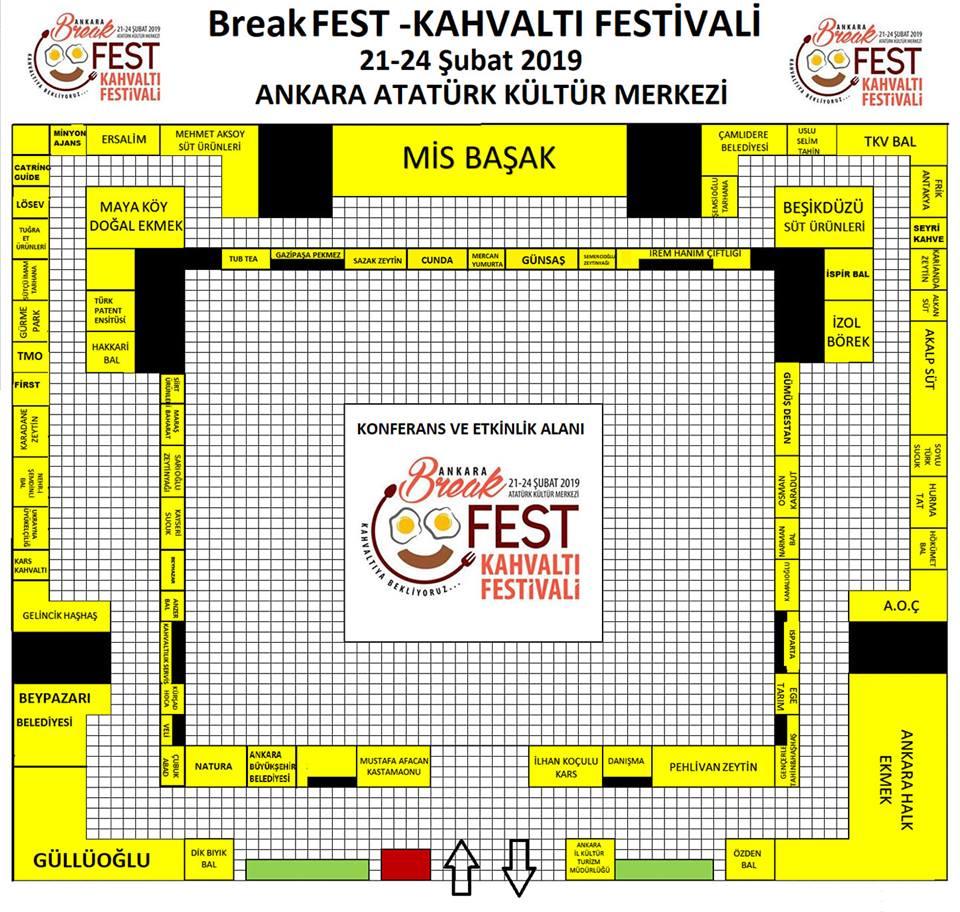 Break Fest Ankara Kahvaltı Festivali Fuar Yerleşimi