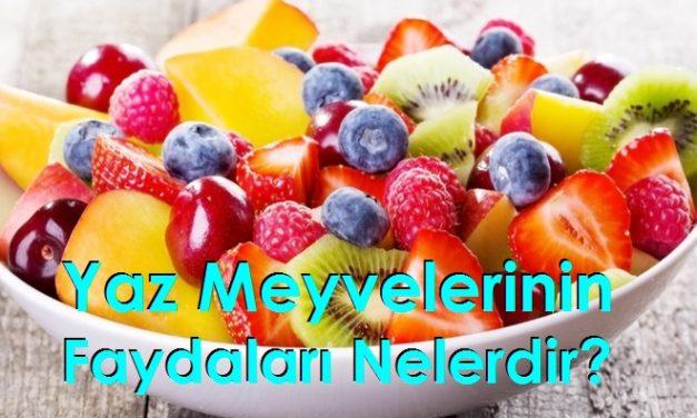 Yaz Meyvelerinin Faydaları Nelerdir