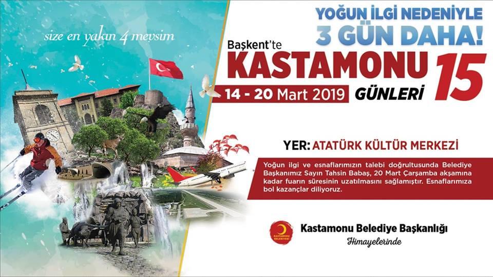 Başkent'te Kastamonu Günleri 3 Gün Daha Uzatıldı