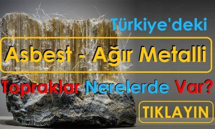 Türkiye'deki Asbest ve Ağır Metalli Topraklar Nerelerde Var?