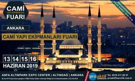 Cami Yapı Ekipmanları Fuarı 2019 Ankara Altınpark Expo