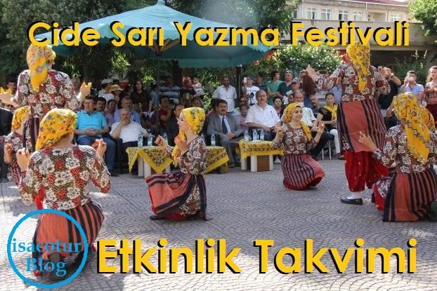 Cide Sarı Yazma Festivali Etkinlik Takvimi