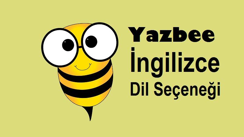 Yazbee İngilizce Dil Seçeneği